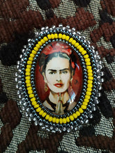 Load image into Gallery viewer, Frida Kahlo portrait brooch