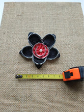 Load image into Gallery viewer, Floral zip brooch