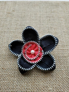 Floral zip brooch