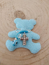 Load image into Gallery viewer, Silver cross baby boy pin