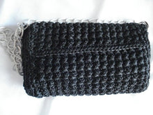 Load image into Gallery viewer, Black crochet bag