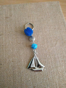 Greek ship keyring