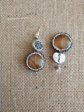 Load image into Gallery viewer, Brown agate post earrings