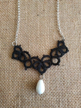 Load image into Gallery viewer, Black lace necklace