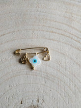 Load image into Gallery viewer, Stroller pin with sterling silver charms