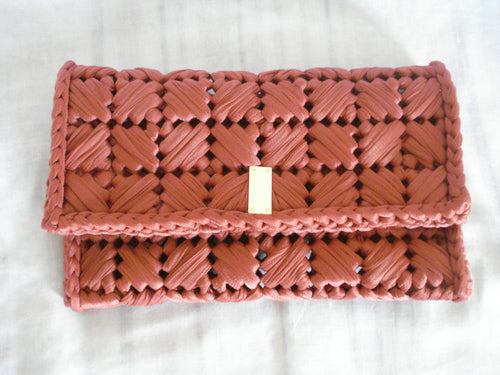 Dark orange clutch