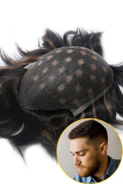 100% Human Hair Fine Welded Mono Base Hair Replacement System