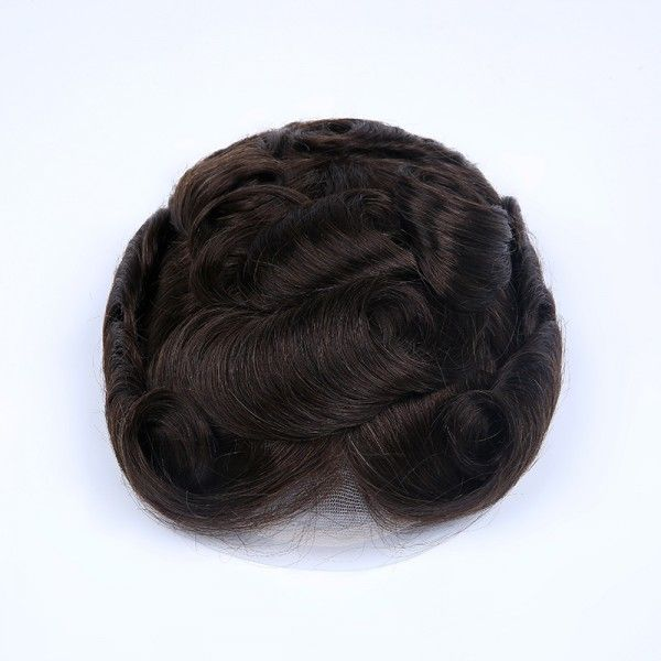 Load image into Gallery viewer, French Lace Center with Poly Side and Back Stock Hair Replacement System For Men