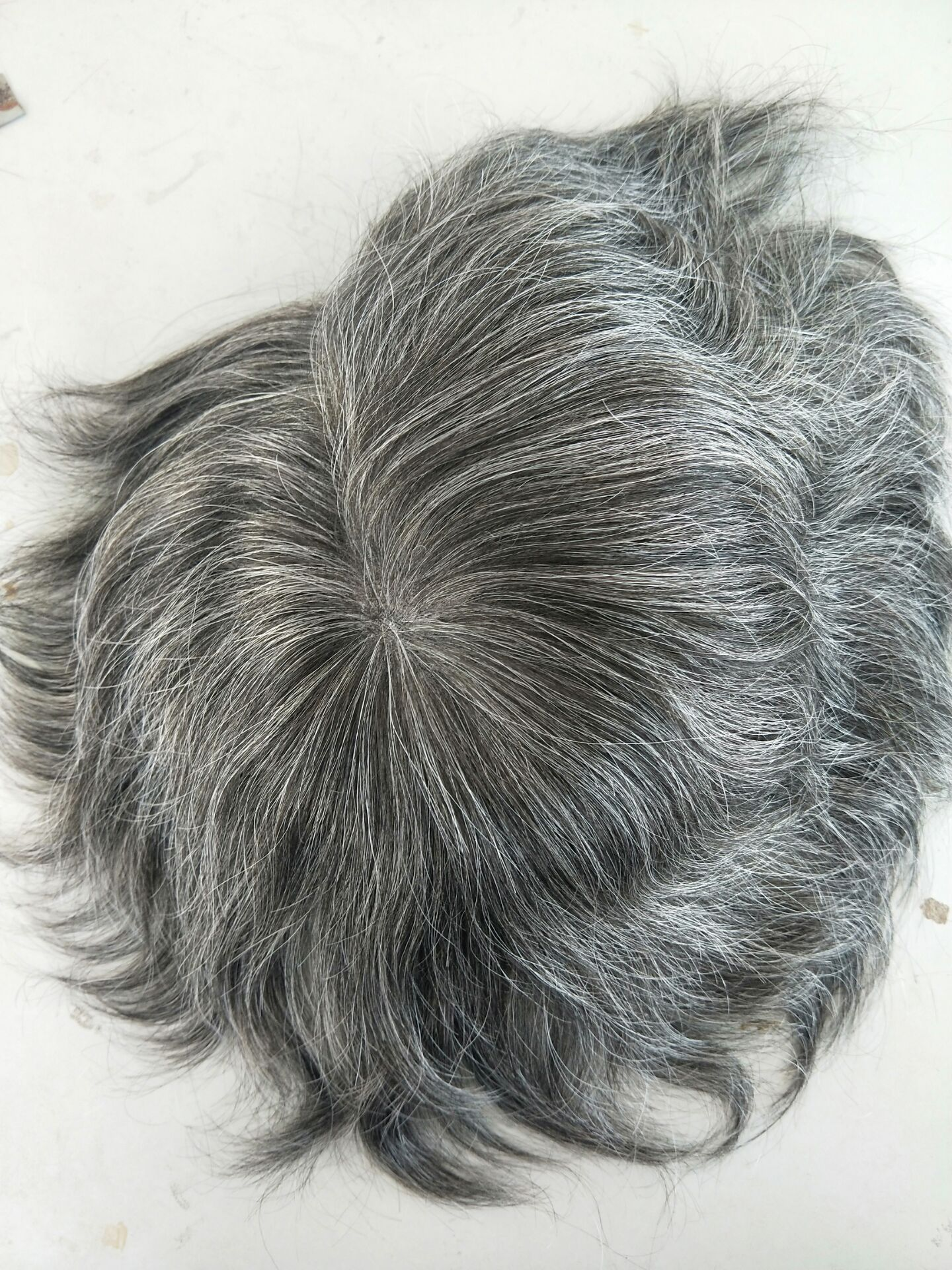 Load image into Gallery viewer, Full French Lace With Grey Hair Special Sale- European hair2400