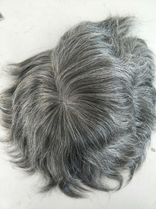 Full French Lace With Grey Hair Special Sale- European hair2400