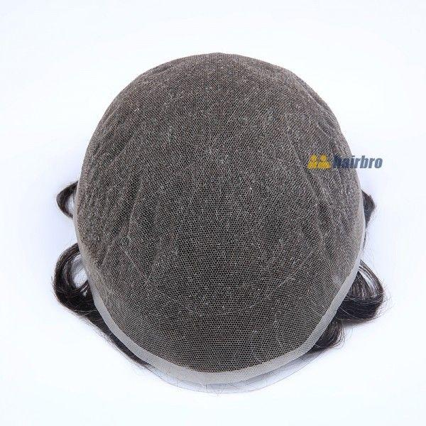 Stock French Lace Human Hair Breathable Hair Pieces For Man