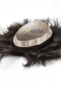 Fine Mono Center with Poly Around Hair Replacement System For Men