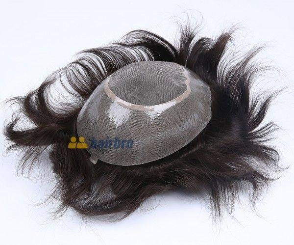 Fine Mono Center with Wide Poly Perimeter Stock Hair Replacement Systems