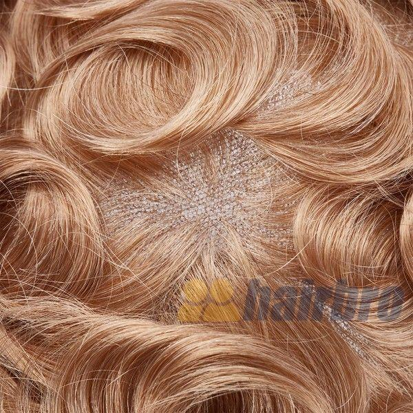 French Lace Front with Large Poly Back Hair Replacement System for Men
