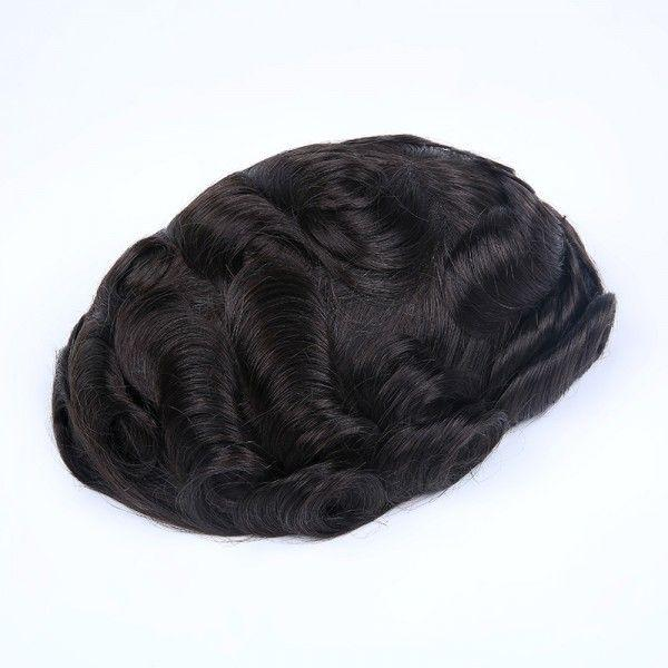Load image into Gallery viewer, French Lace with Wide Poly Side and Back Stock Hair System For Men