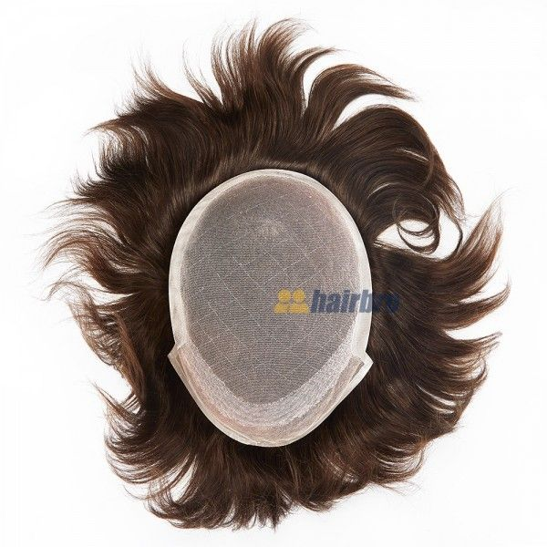 Natural Lace Base With Poly Hair Replacement System For Men