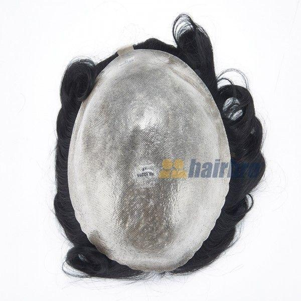 Load image into Gallery viewer, Durable 0.15mm Full Transparent Poly Hair Replacement System for Men