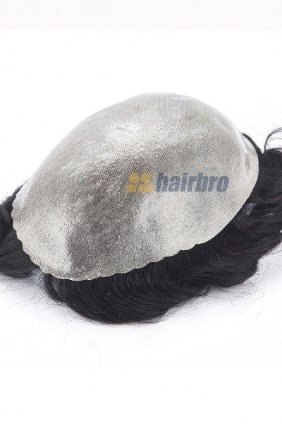 Durable 0.15mm Full Transparent Poly Hair Replacement System for Men