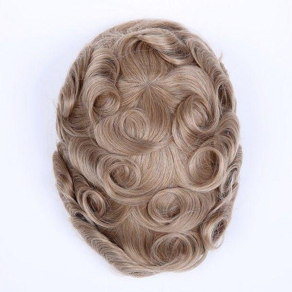 Load image into Gallery viewer, Full Swiss Lace Human Hair Breathable Stock Hair Pieces For Man