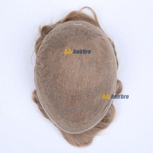 Full Swiss Lace Human Hair Breathable Stock Hair Pieces For Man