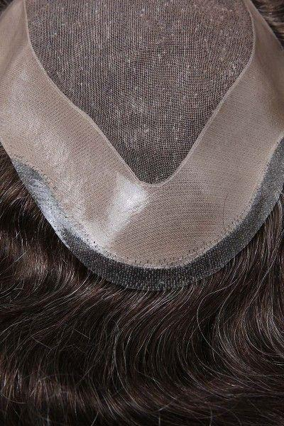 Super Fine Mono Center Hair Replacement System With PU Coating Perimeter