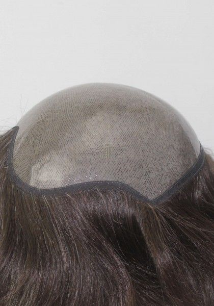 Thick 0.20mm Full Transparent Poly Hair Replacement System
