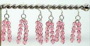 Pretty In Pink Double Drop Earrings