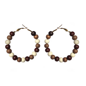 Cocoa Mix Hoop Earrings