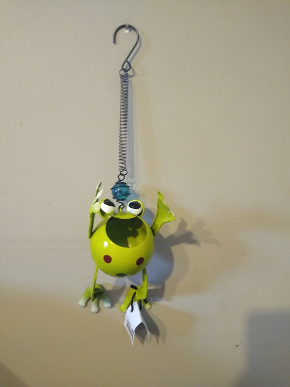 Metal Frog with Orb Bouncy (Reaching Up)