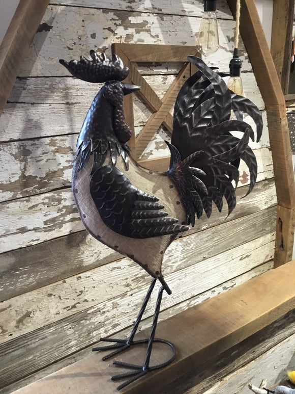Antique Iron Rooster