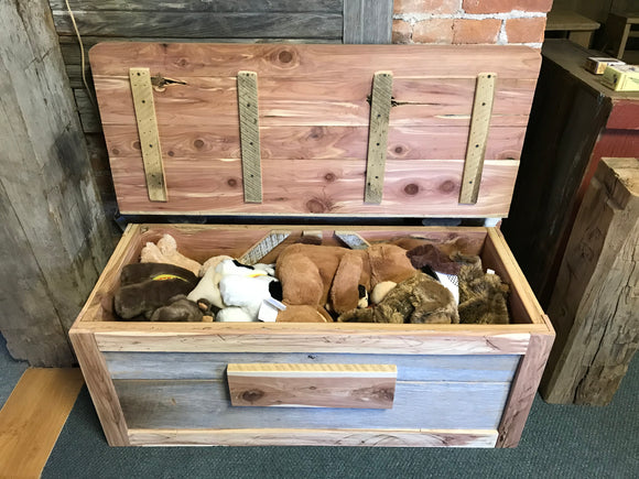 Toy Box/Storage Chest Barnwood & Cedar