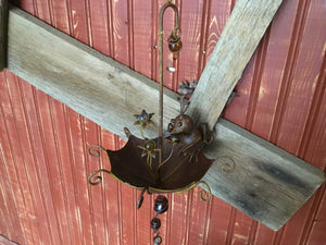 Bird Umbrella Metal Hanging Bird-Feeder