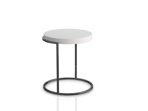 Servogiro End Table White Matt-Titanium