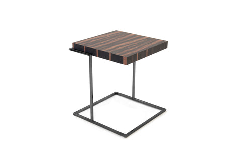 Servoquadro End Table Matt Ebony-Titanium