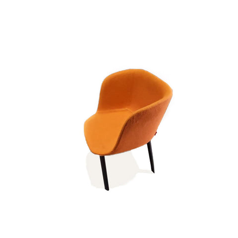 Esse Armchair Orange Fabric - Burnt Oak Legs