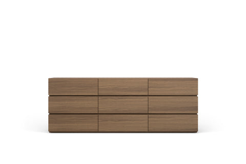 People 9 Drwrs Dresser W/Spacer Walnut