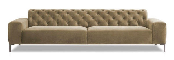 Boston Capit.290 Sofa Beige Velvet fabric