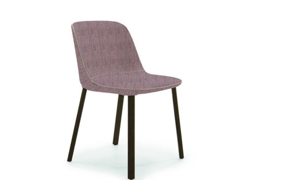 Esse Chair Red Fabric Burnt Oak Legs