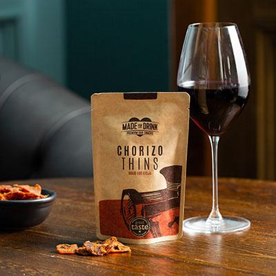 Authentic Spanish Chorizo Thins Crisps, Snacks & Nuts Made For Drink