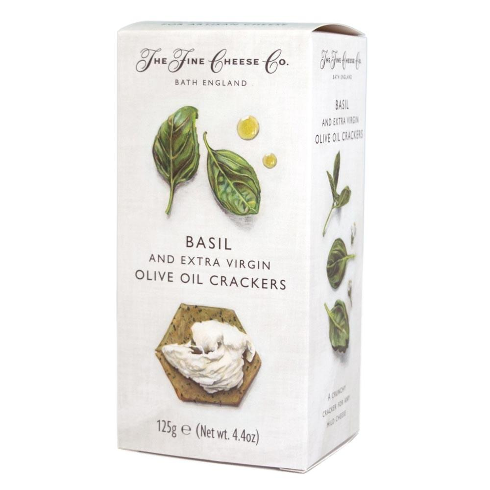 Basil & Extra Virgin Olive Oil Crackers Bread Snack The Fine Cheese Co.