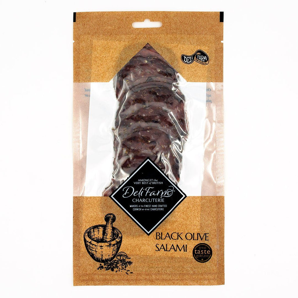Black Olive Salami Cured Meat Deli Farm Charcuterie