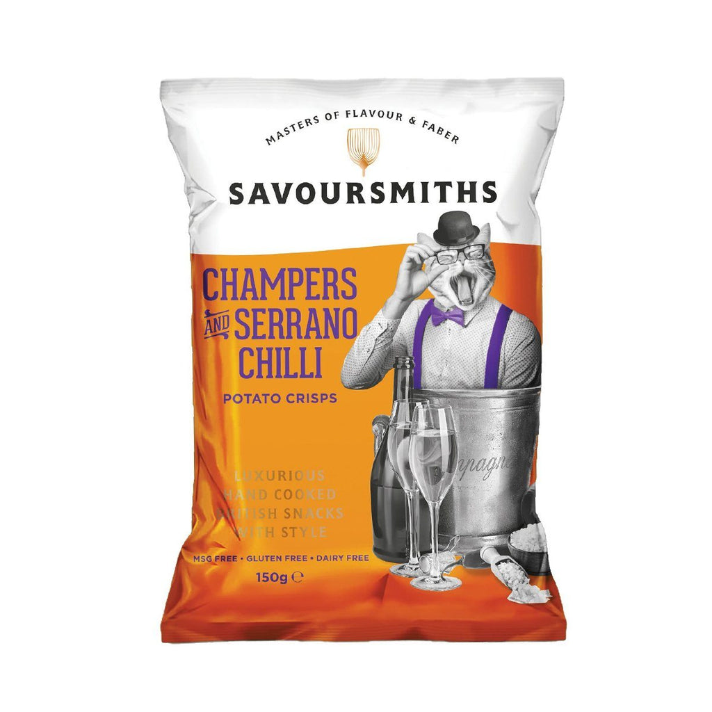 Champers & Serrano Chilli Crisps Crisps, Snacks & Nuts Savoursmiths