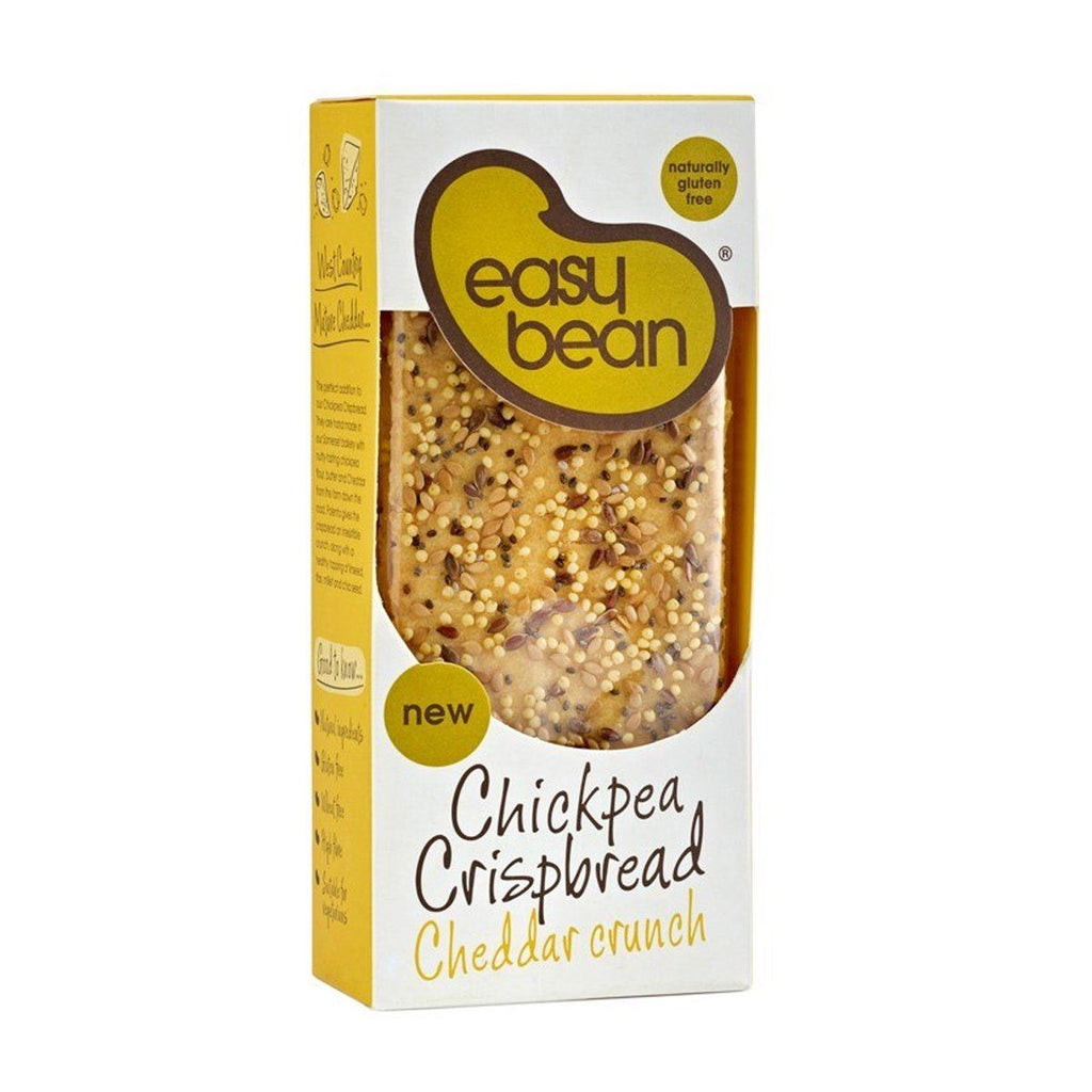 Cheddar Crunch Chickpea Crispbread Bread Snack Easy Bean
