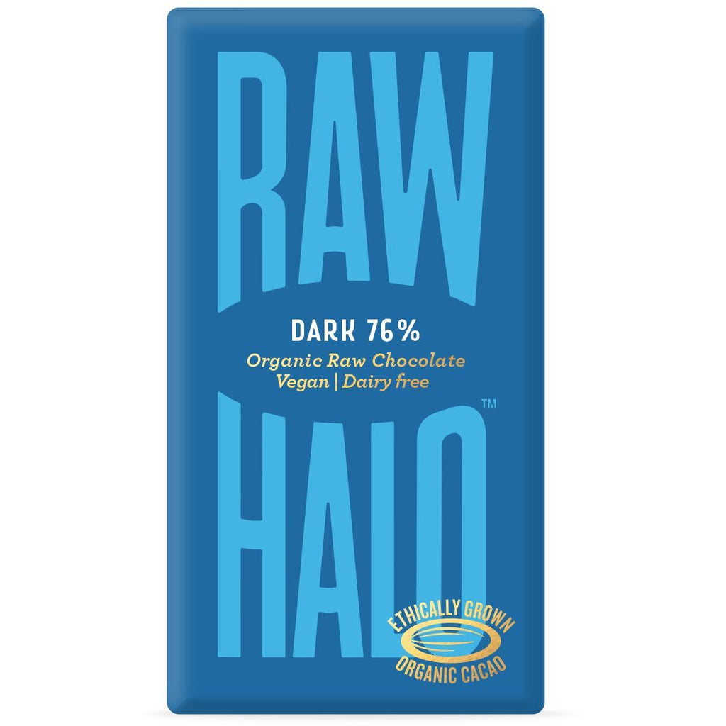 Dark 76% Organic Raw Chocolate Confectionary - Sweets Raw Halo