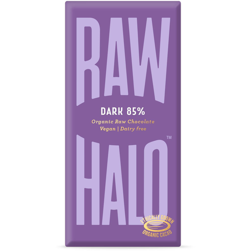 Dark 85% Organic Raw Chocolate Bar Confectionary - Sweets Raw Halo