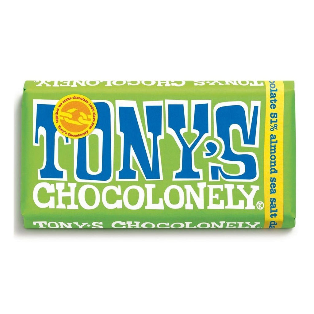 Dark Chocolate, Almonds & Sea Salt Confectionary - Sweets Tony's Chocolonely