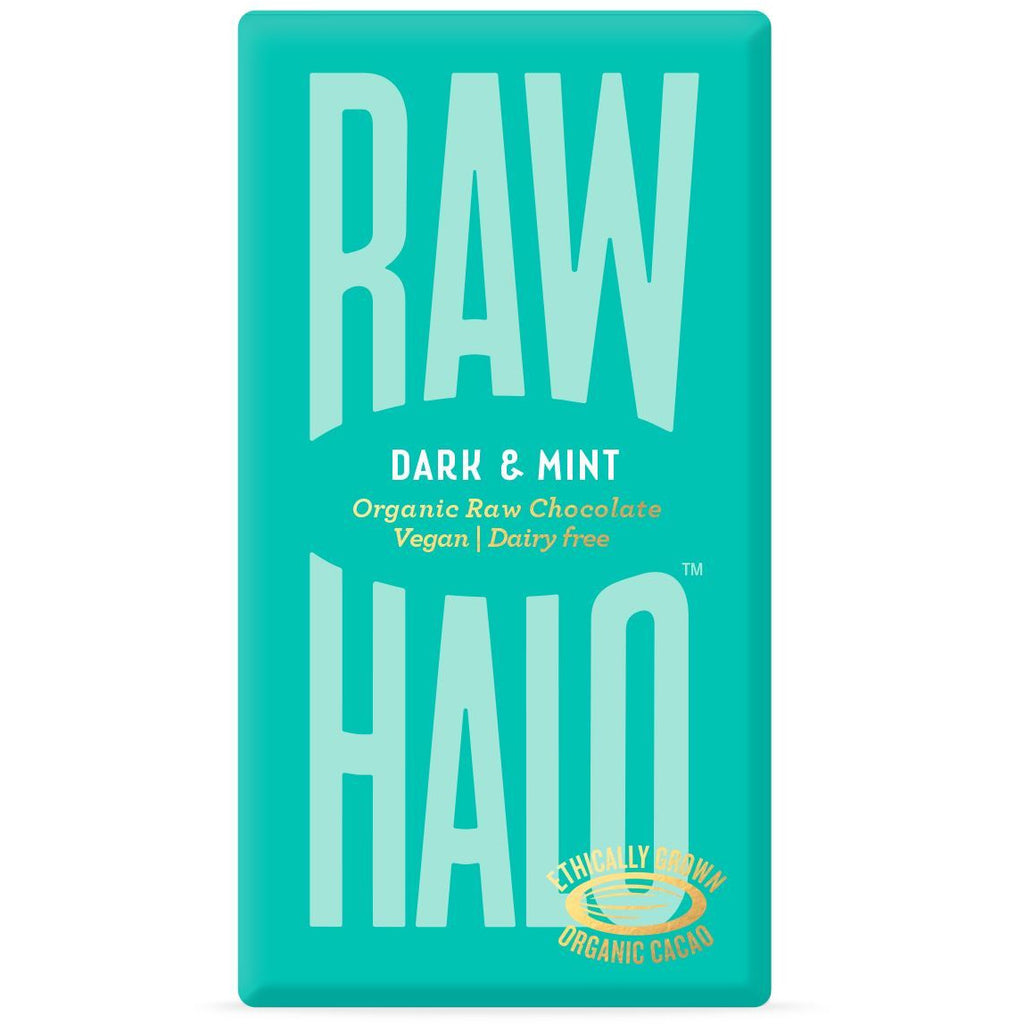 Dark & Mint Organic Raw Chocolate Bar Confectionary - Sweets Raw Halo