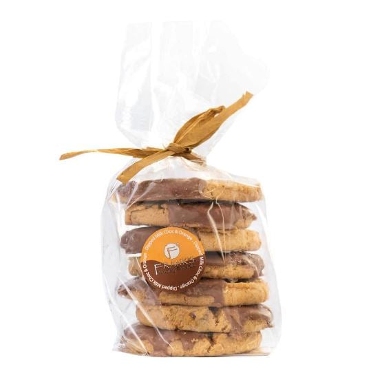 Dipped Milk Chocolate & Orange Oaties Confectionary - Bakery Frank's Luxury Biscuits