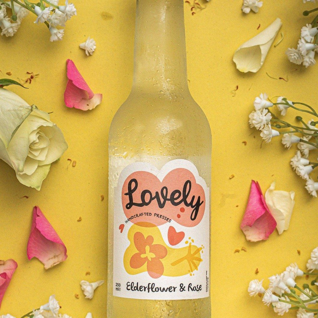 Elderflower & Rose Soft Drinks Lovely Drinks