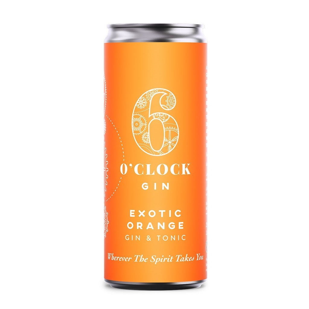 Exotic Orange Gin & Tonic Pre-Mixed Drinks 6 O'clock Gin